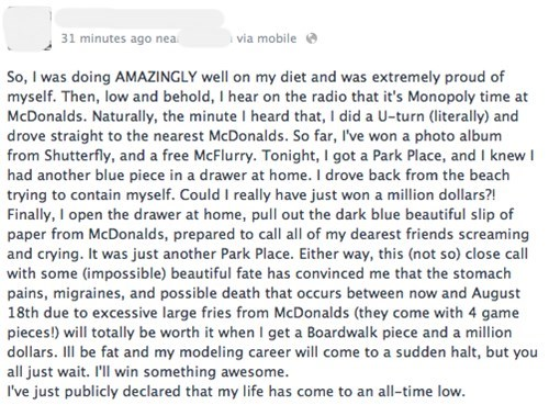 park place monopoly McDonald's fail nation g rated