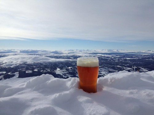beer snow awesome funny - 7689923584