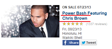 power bash,big hit,chris brown