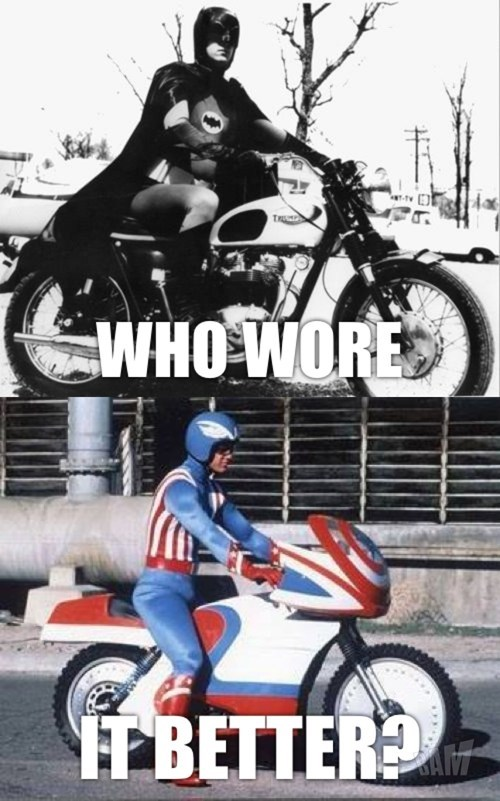 who wore it better,motorcycles,captain america,batman