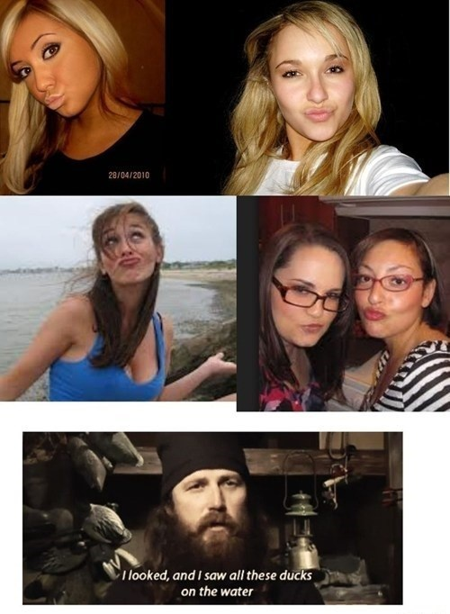 girls duck dynasty duckfaces americana