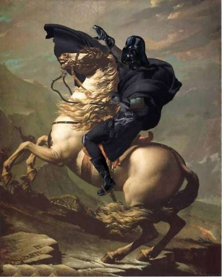 Vader Crossing the Alps