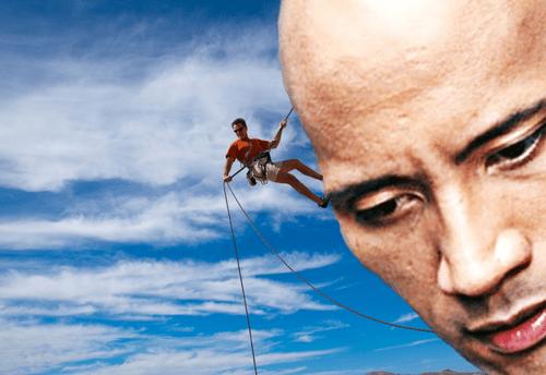 rock climbing,puns,the rock,funny
