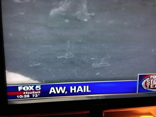 Local News hail weather puns funny Chyron - 7690997504