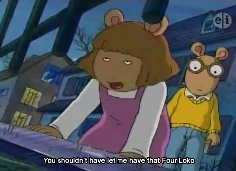 four loko,right in the childhood,PBS,arthur,cartoons