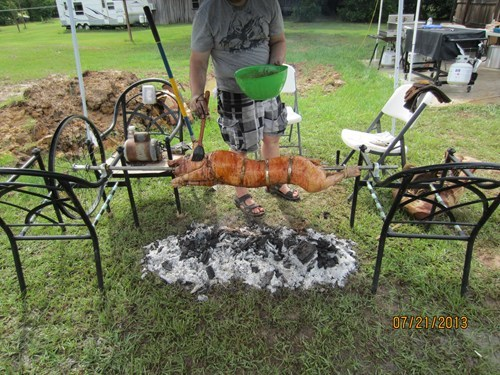 bbqs pig on a spit funny backyards g rated there I fixed it - 7691516928