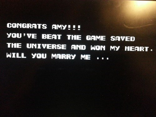 contra,marriage proposal,nerdgasm,funny