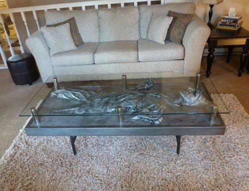 coffee table design carbonite nerdgasm Han Solo funny g rated win - 7691784192