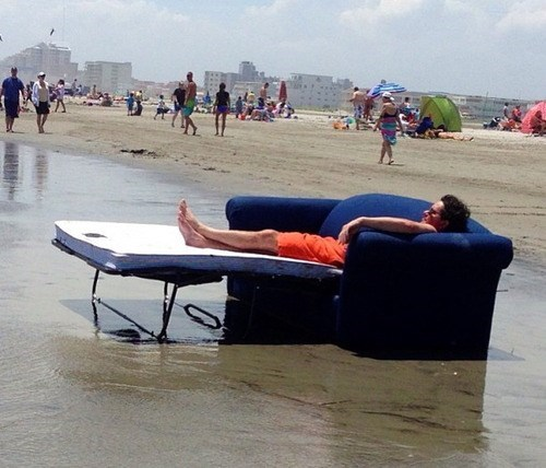 relaxing summer couch beach funny Hercules 2014