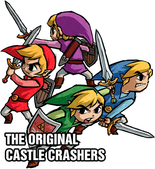 castle crashers four swords zelda