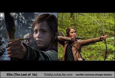 ellie,jennifer lawrence,totally looks like,the last of us,funny