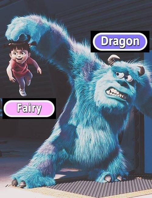 monsters inc,fairy types,dragon types