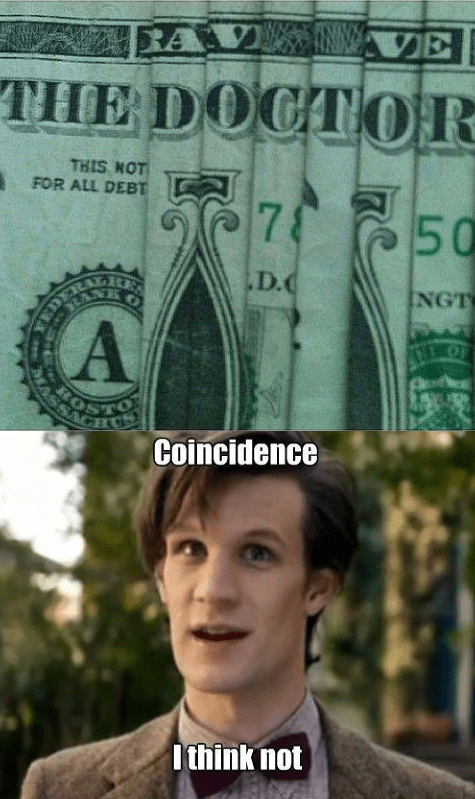 11th Doctor,doctor who,money