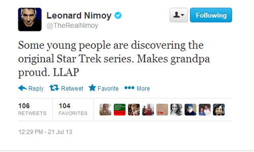 twitter Leonard Nimoy Star Trek - 7693339904
