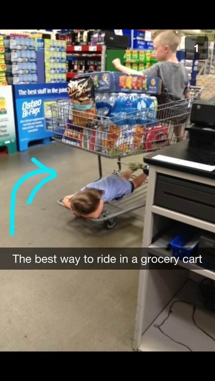 shopping Life Hack grocery cart - 7693475328