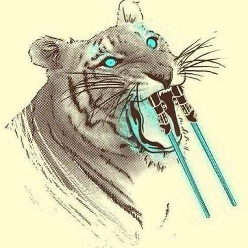 lightsaber puns saber toothed tiger funny - 7693512704