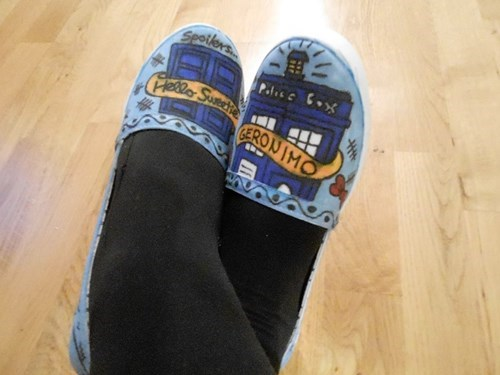 shoes tardis doctor who DIY - 7693848576