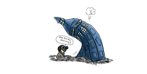 are you my mummy Fan Art tardis - 7693852672