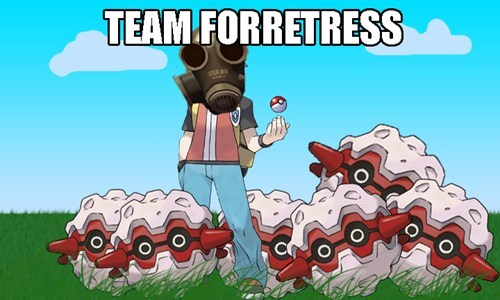 Pokémon,forretress,puns,Team Fortress 2,video games,pyro