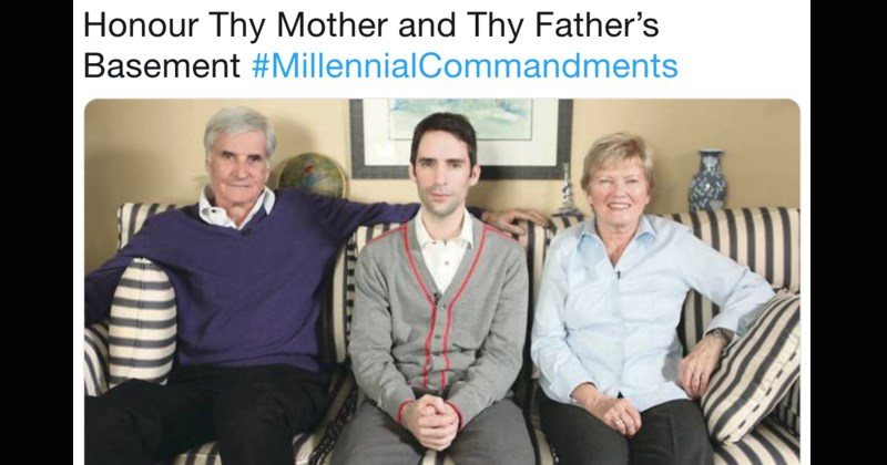 twitter ten commandments millennial commandments millennials generation y generations funny tweets stereotypes avocado toast parenting young people selfie - 7695621