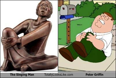 Peter Griffin totally looks like singing man my knee funny