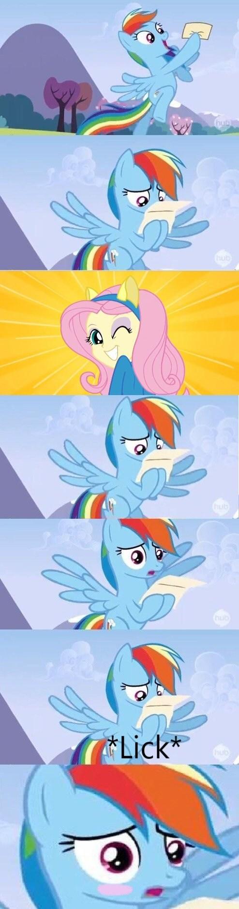 equestria girls licks Memes fluttershy rainbow dash - 7698372352