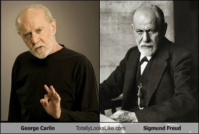 george carlin,totally looks like,Sigmund Freud,funny