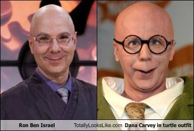 totally looks like dana carvey ron ben israel funny