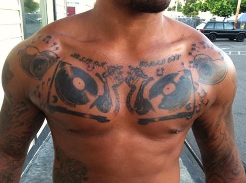 dj turntables tattoos funny - 7701321472
