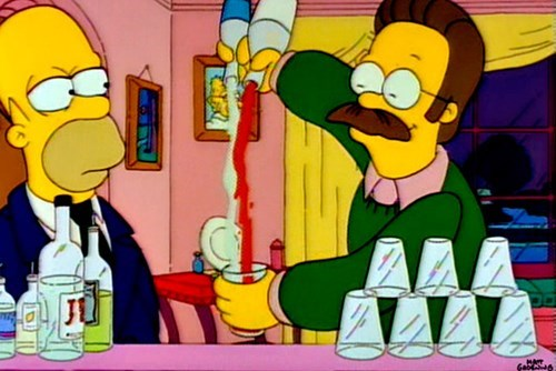 ned flanders bartender simpsons funny - 7701384192