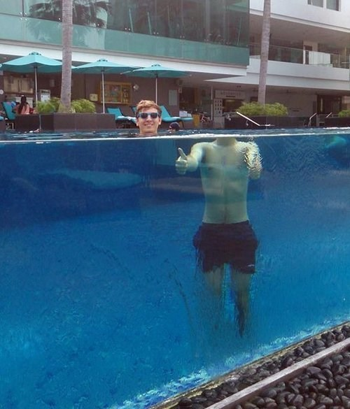 physics optical illusions swimming pool - 7701422080