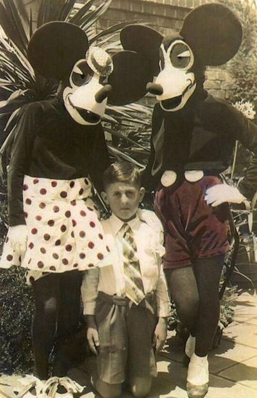 terror,mickey mouse,antique