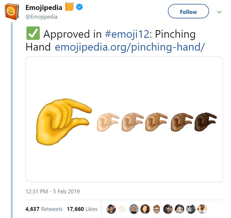 pinching hand emoji