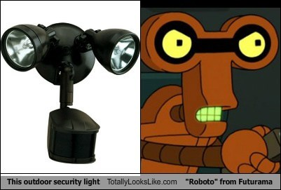 roboto lights totally looks like robots futurama funny - 7701513216