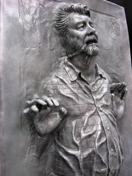 george lucas,star wars,carbonite,new trilogy