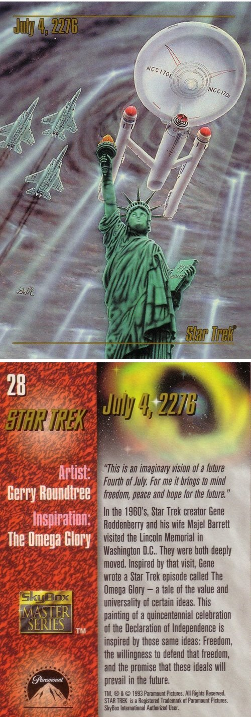 enterprise Statue of Liberty america Star Trek trading cards - 7701617408