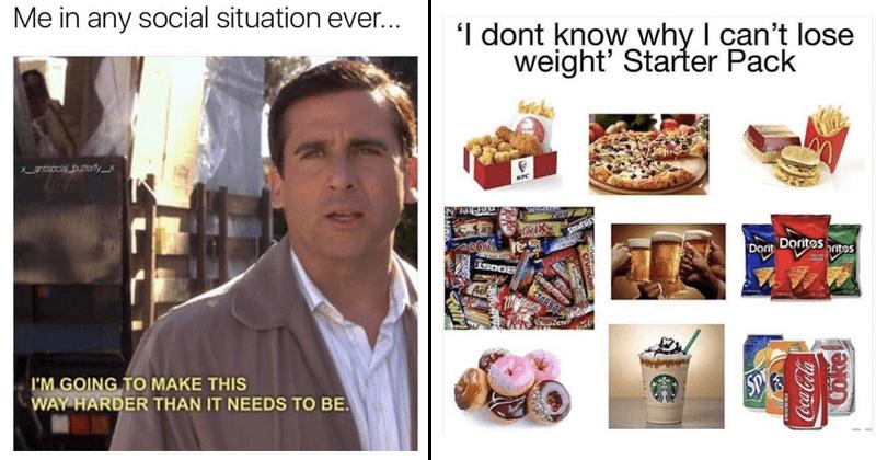 Funny random memes, dating memes, weight loss, diets, men, women, dog memes, cat memes.