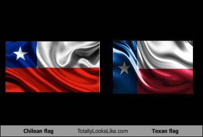 Chile,flags,totally looks like,texas,funny