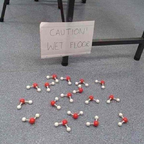 wet caution water science Chemistry funny - 7701782272