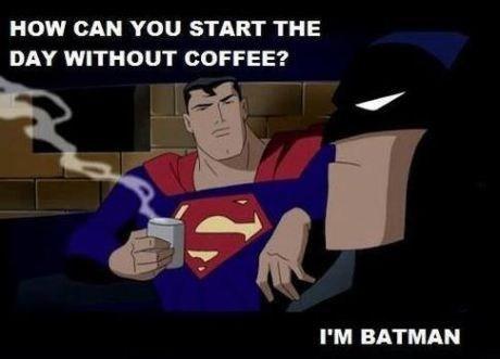 coffee cartoons batman funny superman - 7701787136
