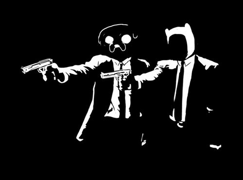 crossover,Fan Art,pulp fiction,adventure time