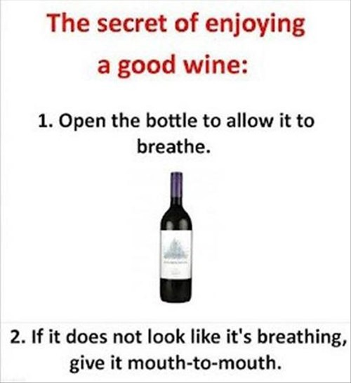 wine,How To,breathe,funny,after 12,g rated