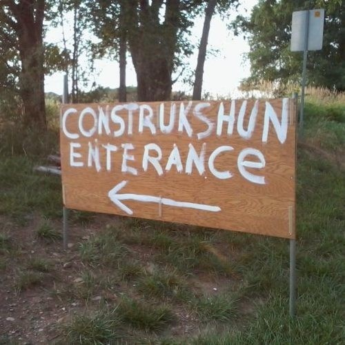 construction road work spelling monday thru friday g rated - 7702083072