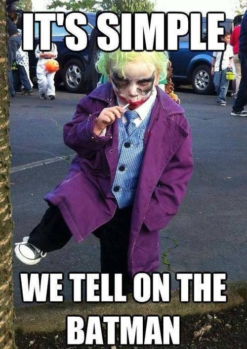 cosplay joker kids batman - 7702085120