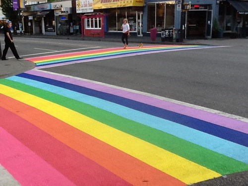 lgbtq,design,hacked irl,crosswalk,rainbow