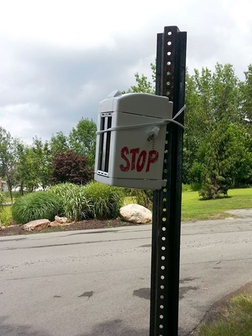 sign stop sign funny toaster - 7702218496