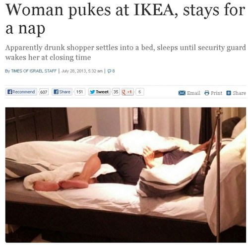 woman drunk ikea funny after 12 - 7704010496