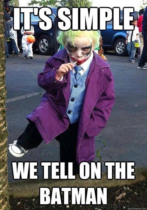 cosplay joker kids cute batman funny - 7704050176