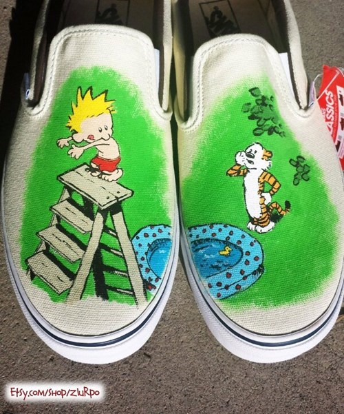 shoes calvin and hobbes for sale - 7704073728