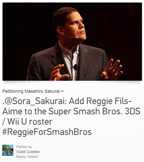 my body is ready super smash bros change.org reggie fils-aime Video Game Coverage